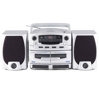 Supersonic SC-2020 Portable CD Player with Cassette Recorder & AM/FM Radio