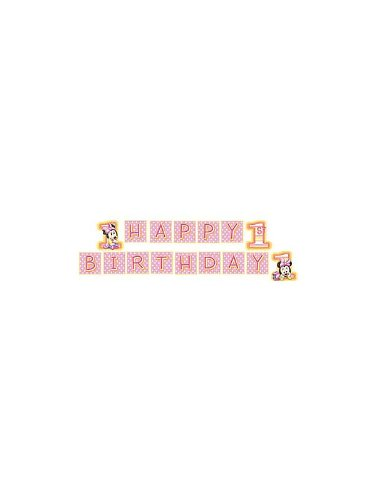 Hallmark Minnie's 1st Birthday Plastic Banner [Toy]