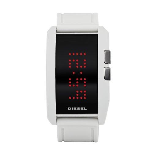 Diesel DZ7167 - Reloj unisex de cuarzo, correa de silicona color blanco