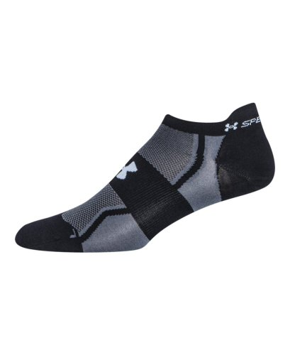 Under Armour Men's Speedform Ultra Low Tab Socks (1 Pair), Black, Large
