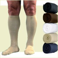 Activa Men's Ribbed Dress Socks 20-30 mmHg Medium Tan - H3502