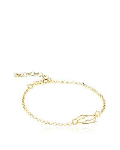 ALBA CAPRI Pulsera Ermine plata de ley 925 milésimas bañada en oro