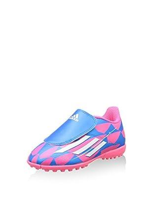 adidas Botas de fútbol F5 Tf J Single Hl (Turquesa / Fucsia)
