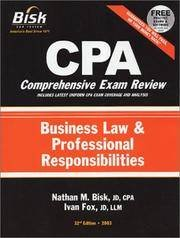 CPA Comprehensive Exam Review, 2003: Business Law and Professional Responsibilities (32nd Edition)