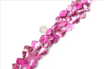 15x20mm freefrom plum Sea shell beads strand 15