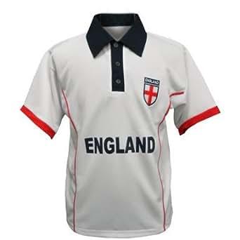 England Football Polo Shirt White With Embroidered Logo