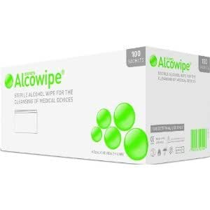 Sterile Alcowipes 1 box of 100 wipes