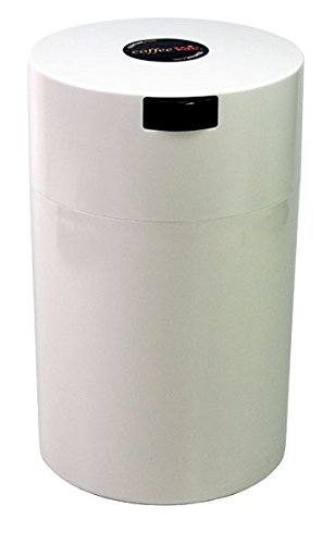 Coffeevac 1 lb - The Ultimate Vacuum Sealed Coffee Container, White Cap & Body (Food Saver Vac 500 compare prices)