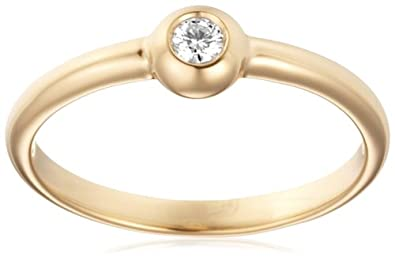Miore 18ct Yellow Gold Solitaire Ring with Diamond