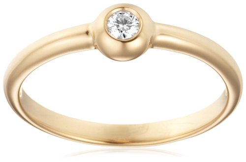 Engagement Ring, 18ct Yellow Gold, Diamond Solitaire Engagement Ring, 0.06 carat Diamond Weight, by Miore, M0615YP