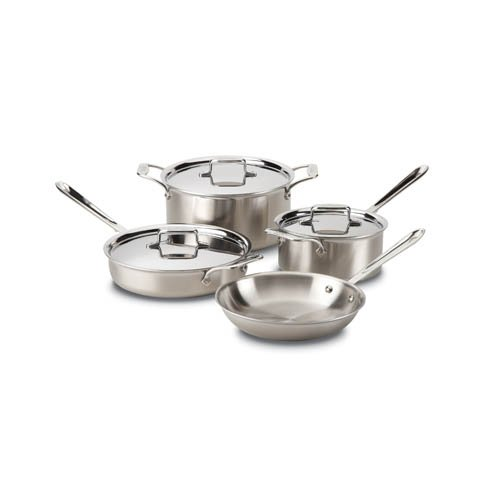 All-Clad d5 Brushed Stainless Steel 7pc Set