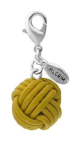 Pilgrim Women's Charms Pendant Brass Silver Plated Yellow 560152