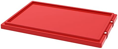 Akro-Mils Lid For Stack And Nest Tote Boxes - Fits Tote Boxes 44219 - Red - Red - Lot of 3