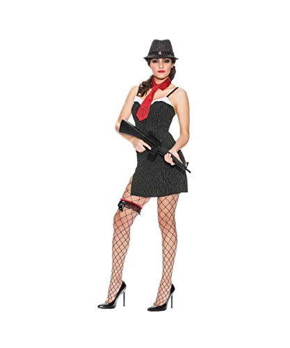 Speakeasy Gangster Womens Sexy Mobster Skirt Corset Halloween Costume