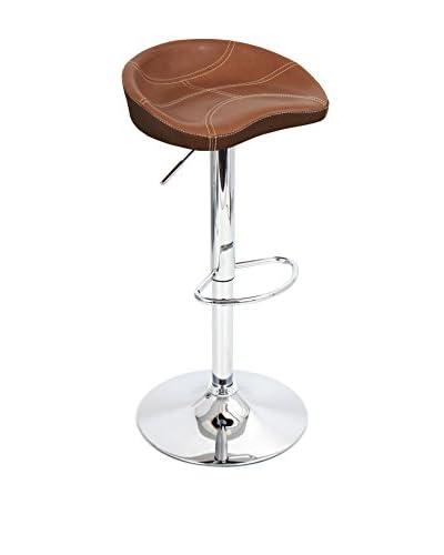 LumiSource Slugger Bar Stool, Espresso/Tan