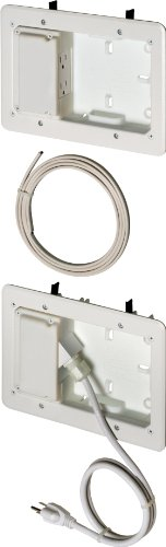 Arlington TVL2508K-1 Low Profile TV Bridge Kit for Shallow Walls, 8-inch x 5-inch Box, 1/2-inch or 5/8-Inch Drywall, White, 1-Pack