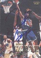 Derek Harper, Dallas Mavericks, 1997 Fleer Autographed Card