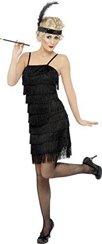 20er Jahre Kleid Charleston Gangsterbraut Mafia Fransen Damen Gr. XL