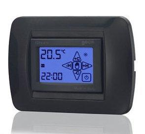 Cronotermostato da incasso retroilluminato touch screen for Cronotermostato bticino living