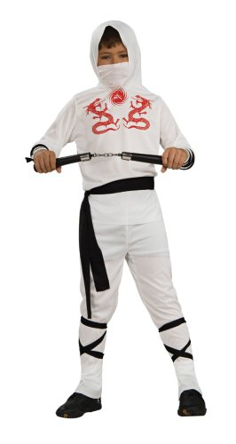 Rubies Child's White Ninja Costume, Medium