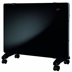 Aura DGFP15120B Glass Flat Panel Radiant Convection Heater with Remote Control, 750/1500-Watt