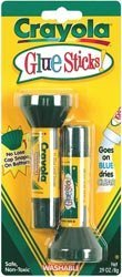 Bulk Buy: Crayola Washable Glue Sticks .20 Ounce 2/Pkg 56-1129 (6-Pack)