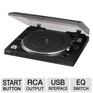 Sony Fully Automatic Stereo Turntable Plus 100ft Oxygen-Free Copper Speaker Wire (Sony Turntable Usb compare prices)