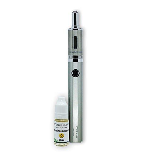 e-Zigarette InnoCigs / KangerTech EVOD Mega 1900 mAh – Einzelset – 1,5 Ohm Dual Coil Clearomizer mit 2,5 ml Fassungsvermögen (Silber (Edelstahl))