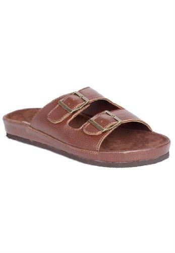 Comfortview Women'S Wide Maxi 2-Buckle Sandal Brown,10 W