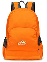 Portable Lightweight 20L Travel Backpack Bag Luggage Organizer Orange