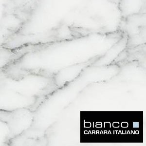 Carrara (Carrera) Bianco Honed 18x18 Floor and Wall Marble Tile
