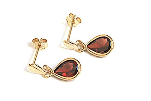 9ct-gold-garnet-teardrop-earrings