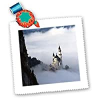 Florene Germany - Bavarian Castle - Quilt Squares by 3dRose LLC