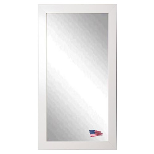 American Made Rayne Glossy White 28.5 X 63.5 Floor Mirror front-331646