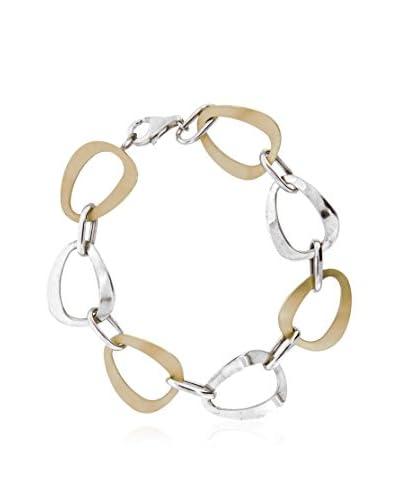 Gold & Diamonds Pulsera Combi plata de ley 925 milésimas bañada en oro