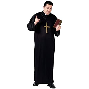 FunWorld Adult Priest, Black, One Size Costume