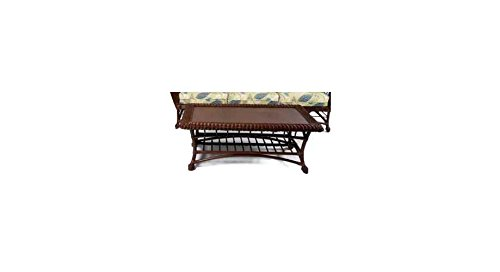 Palm Spring Rattan Coffee Table w Stone Top (924)