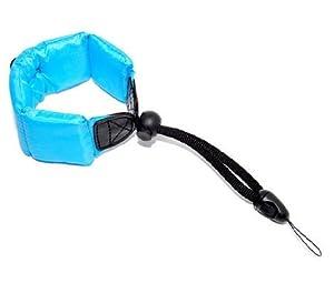 JJC Blue Floating Foam Camera Strap for Panasonic Lumix DMC-FT1, DMC-FT2, DMC-FT10, DMC-FT20, DMC-TS10, DMC-TS20 / HM-TA20