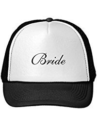 Funny Bride'S Formal Black And White Cap Trucker Hat