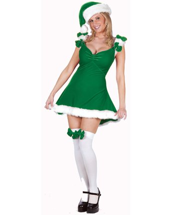 Green Christmas Xmas Holiday Party Outfit Costume