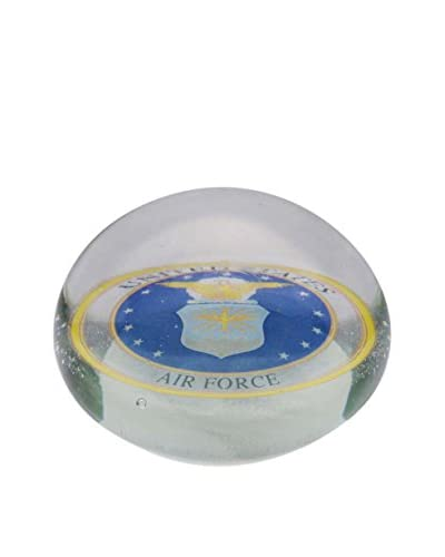 Dynasty Gallery Glass Air Force Paperweight, Blue