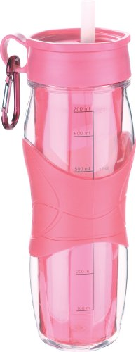 Trudeau Cool Off 24-Ounce Hydration Bottle, BCRF Pink