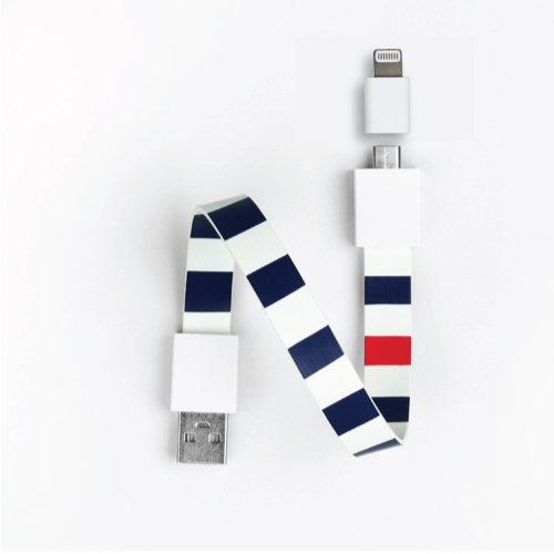 Mohzy Loop USB Cable with Apple Adapter Classic Loop - Navy bold (MO5LO2-NB)
