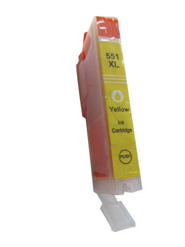 komp. XXL Druckerpatronen gelb / yellow Canon CLI-551Y XL für CANON Pixma ip 7250 Canon Pixma MG 5450 6350 Canon Pixma MX 725 925