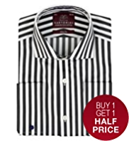 Sartorial Slim Fit Pure Cotton Bengal Striped Shirt