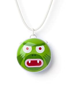 Talkatoo Voice Recordable Pendant: 'Green Monster' with Necklace