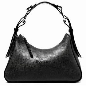 Dooney Bourke Pebble Leather Hobo Shoulder Bag Black