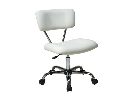 "Avenue Six Vista Task Office Chair (White Vinyl) (29.5""-33""H x 19.25""W x 25.75""D)"