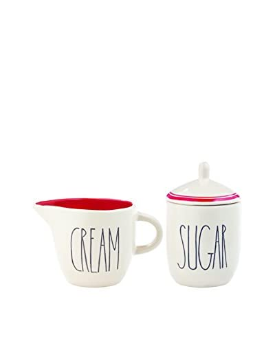 Rae Dunn by Magenta Sugar & Creamer Set, White