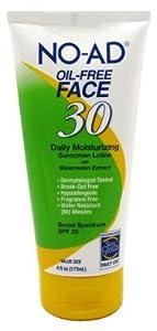 No-Ad Spf#30 Oil-Free Face Sunscreen Lotion 6oz Tube by No-Ad Suntan